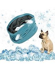 EKKONG pañuelo perro refrescante,Collar Refrigerante Perro,mascotas perros accesorios Enfriar al perro, bandana para perro para refrescar al perro en verano y ayudarlo a pasar el verano,35 X 11 cm (S)