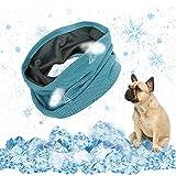 EKKONG pañuelo perro refrescante,Collar Refrigerante Perro,mascotas perros accesorios Enfriar al perro, bandana para perro para refrescar al perro en verano y ayudarlo a pasar el verano,35 X 11 cm (M)