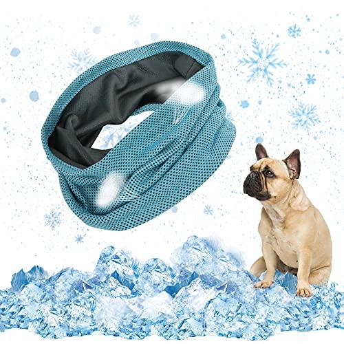EKKONG Hunde halstücher Kühlend,Kühlhalsband für Hunde, Atmungsaktiv Wärmeableitung Bandana Hund, hundehalsband mit Tuch Kühlend,Geeignet für Kühlhunde im Sommer,45 X 13cm