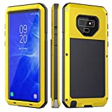 Galaxy Note 9 Case,Lilycase Armor Heavy Duty Hybrid Aluminum Metal Shockproof Military Shockproof Hard Cover for Samsung Galaxy Galaxy Note 9 Newest (Yellow)