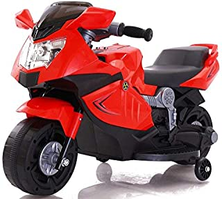 Toy House Mini Rechargeable Battery Operated Ride-On Ninja Superbike for Kids (Red, 1.5-3 Year)