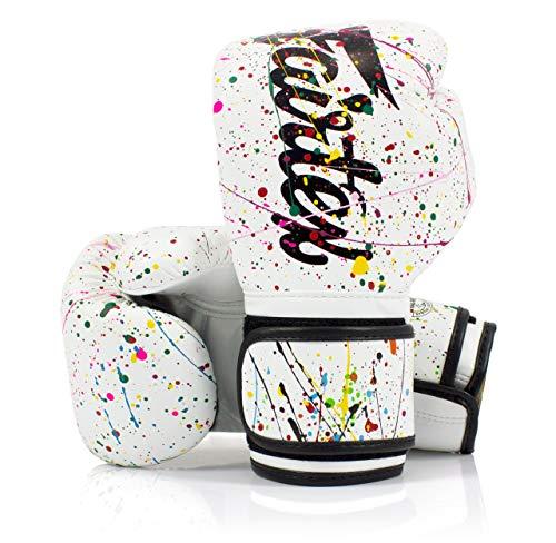Fairtex BGV14 Muay Thai Boxhandschuhe, Farbe: Schwarz, Blau, Grau, Weiß, Rosa, Rot, Gelb, Größe: 10, 12, 14, 16 oz Training Sparring Handschuhe für Muay Thai Kickboxen, MMA K1, Painter, 430 g
