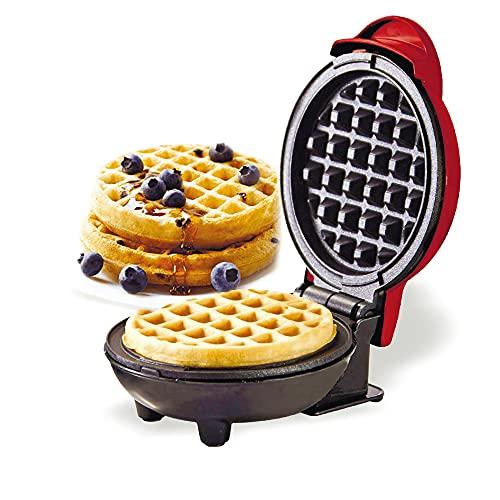 SUQ Mini Gofrera Eléctrica, Plancha para Waffle, Plancha Eléctrica Antiadherente, Máquina de Crepes, Temperatura Constante, para Paninis, Desayunos Rápidos, Cocina Doméstica, Tostadas