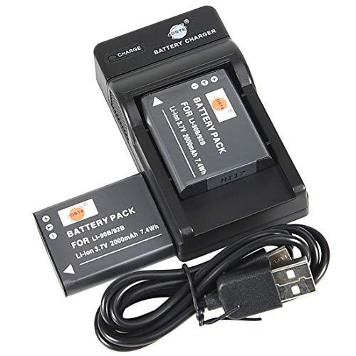 DSTE® アクセサリーキット Olympus LI-90B LI-92B 互換 カメラ バッテリー 2個+USB充電器キット対応機種 To...