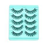 Leoy88 Big sale! 5 Pair/Lot Crisscross False Eyelashes Lashes Voluminous Hot Fake Eye Lashes Beauty (A)