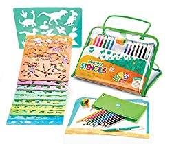 Creativ' Craft Large Drawing Stencils Art Set for Kids