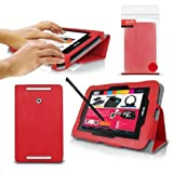 ORZLY® - ASUS VIVO TAB NOTE-8 Tablet Case / Schutzhülle mit integrierter Standfunktion in ROT PropUp Stand Hülle / Fall / Tasche / Folio für ASUS ViVoTab Note 8 Tablet - 2014 Windows 8.1 Modell