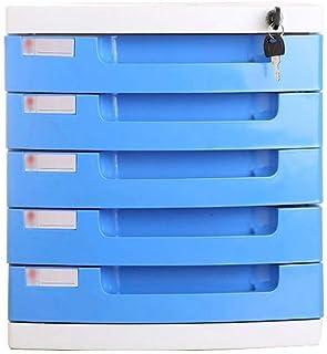Armoire à fichiers Classeur de bureau Classeur multicouche Tiroir Boîte de rangement Fournitures de bureau données verroui...