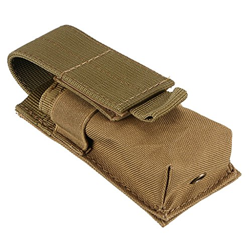 Sharplace Poche de Sac Militaire Sacoche de Randonnée Camping Pochette Lampe Torche - Kaki (Brun), 12X5.5X4CM