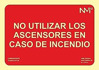 Normaluz RD12104-G Sinal Luminiscente Saida CLASE B PVC 0,7mm 10,5x40,2cm con CTE RIPCI y Apto para la Nueva Legislaci/ón