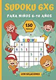 SUDOKU 6X6 para Niños 6-10 Años: Libro de Sudoku | clásico 6X6 adaptado a los niños más pequeños| Nivel Fácil | 150 cuadrículas + soluciones | 17,78 x 25,4 cm - 52 páginas