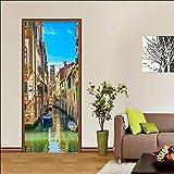 Papier peint mural Art 3D Renouveler Venise Mer Ville PVC Photo Autocollant Étanche...