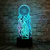 Lámpara de mesa 3D carillón de viento LED interruptor captura luz nocturna fiesta decoración de dibujos animados regalo
