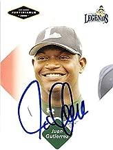 Juan Gutierrez autographed baseball card (Houston Astros FT) 2005 Just Minors #34 - Baseball Slabbed Autographed Cards