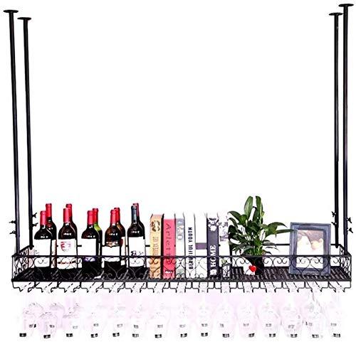 Estantería de vino Estante de cristal de vino, soporte de la botella de vino, unidades de barra de barra estantería de pared Estante de pared Estante de almacenamiento, LOFT Vintage Muro Estante de al