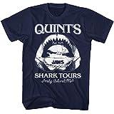 Jaws 1970s Shark Thriller Spielberg Movie Amity Island Tours Quints - Camiseta para adulto -  Azul marino -  4X-Large