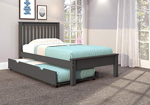 Donco Kids Twin Contempo Bed with Twin Trundle in Dark Gray