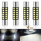 TORIBIO 28MM 12SMD DC12V Festoon Bulb Bright For 6614 6614F 6641 6612F Xenon White 6000K(4PCS)