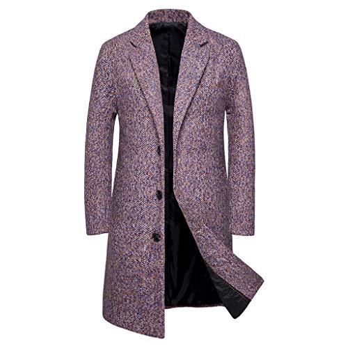 Original Lambskin Leather Men's Long Coat Glossy Black Sheepskin for Sale on Amazon (M)