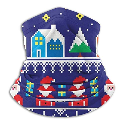 ZSMJ Suéter de Navidad Bandanas Cuello Polaina para Mujeres Hombres al aire libre Deporte Protección UV