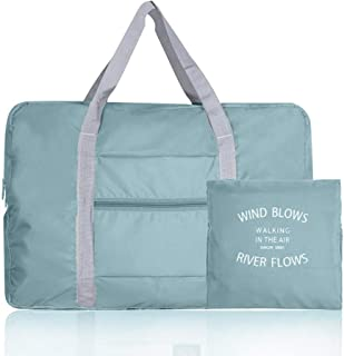 Storage Bag, Tote Bag, Travel Duffel Bag Large Capacity Business Clothing Storage Bag Luggage and It Can be Folded Storage Bag (Light Blue)