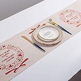 Decoración de Navidad del copo de nieve del muñeco de lino Impreso de mesa Abanderado Mantel Mantel hotel Festival de la decoración del hogar può essere all'ingrosso ( Color : B , Size : Dobby )