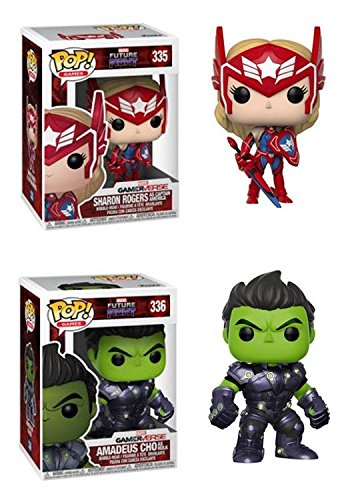 Funko POP! Marvel Future Fight: Sharon Rogers + Amadeus Cho como Hulk