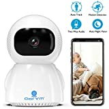 Pet Camera Wireless 1080P Full HD Pan/Tilt/Zoom Dog Camera with 2 Way Audio, Auto Night Vision and Motion Detection Baby Camera WiFi Wireless Security Camera