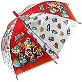 Superzings Regenschirm für Kinder, transparent, automatisch, 68 cm