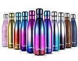 willceal Botella de Agua de Doble Pared de Acero Inoxidable con Aislamiento al...