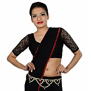 Lucky Jewellery Kamarband Maroon Green in Colour Studed with Pearl and Sparkling Stones Also Known as Waist Chain, Hip Chain, Belly Chain, Udiyanam, BodyJewellery, Waist Belt (528-L1LM-K16-MG-MOD)