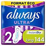 Always Ultra - Serviettes hygiéniques, Long Plus, Format éco x144