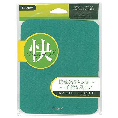 ナカバヤシ マウスパットベーシッククロス グリーン MUP-907-GN 00030585 【まとめ買い5枚セット】