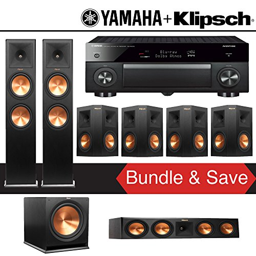 Fantastic Prices! Klipsch RP-280F 7.1-Ch Reference Premiere Home Theater System with Yamaha AVENTAGE...
