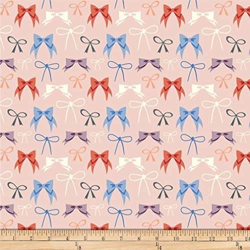 Birch Organic Fabrics Birch Organic Pirouette Bows Knit Blush, Fabric by the Yard