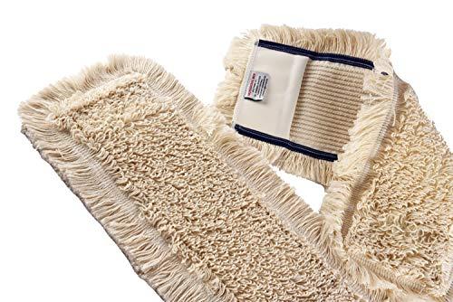 Unbekannt Wischmop aus 100% Baumwolle Wischmopp 80 cm Parkett Baumwollmopp - Wischbezug zur Echtholz trocken und nass Bodenpflege - Bodenwischer für Dielen Parkett Laminat & Fliesen (Ohne Mikrofaser)