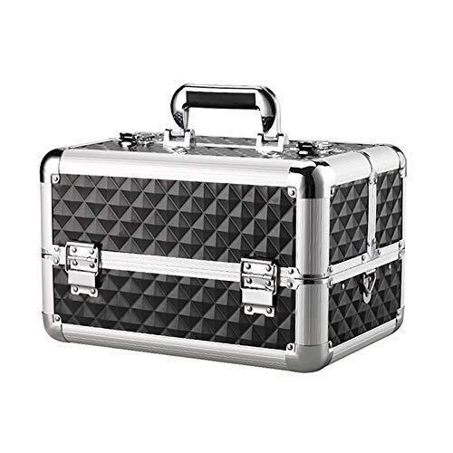 GOXJNG Medizin Box Set Compact Erste-Hilfe-Kit Portable Medizin Diagnose-Kasten-Kasten Hygienic Abschließbare Behälter mit verstellbarem Schultergurt for Home Reise Arbeitsplatz (Color : Black)