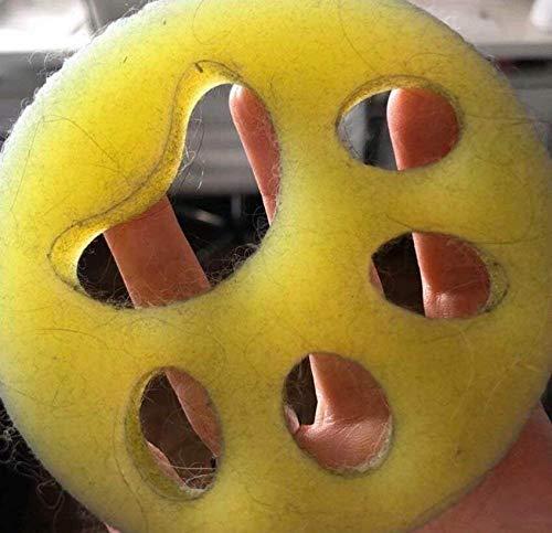 WangXL Dierenhaarverwijderaar, 2 stuks, voor de wasmachine, herbruikbaar, voor de huid van de kat, in de wasmachine en in de droger, 1 x geel