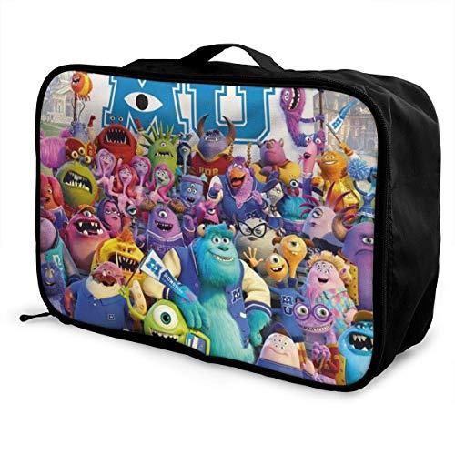 Monsters University Travel Lage Duffel Bag Lightweight Suitcase Portable Bags for Women Men Kids Waterproof Large Bapa Caity