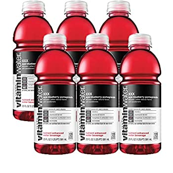 Vitamin Water Acai-Blueberry-Pomegranate - XXX 20 Oz Bottle  Pack of 6 Total of 120 Oz