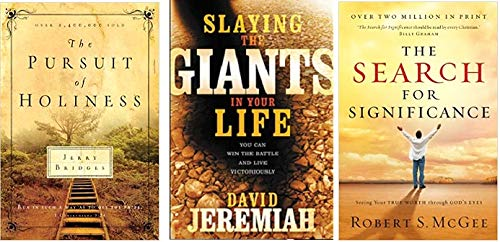 Set of 3 Christian Books; The Pursuit of Holiness, Slaying the Giants in Your Life, and The Search for Significance