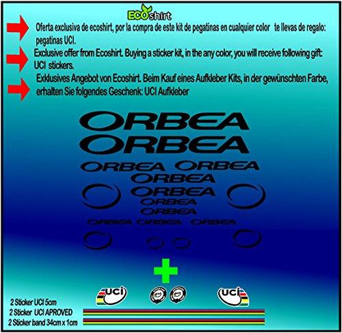 Ecoshirt FR-E3MA-NXL9 Stickers Orbea R71 Vinyle Adhésifs Decal Aufkleber Étiquette MTB Stickers Bike Noir