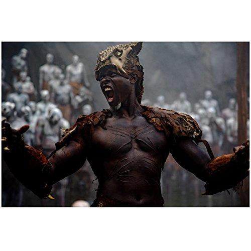 The Legend of Tarzan (2016) 8 inch x 10 inch Photo Djimon Hounsou Shirtless Shouting Head Turned Right kn