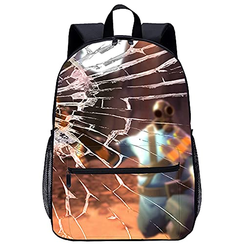 3D Escolar Mochila con mochila para niño Team Fortress Adecuado para: estudiantes de primaria y secundaria, la mejor opción para viajes al aire libre Tamaño: 45x30x15 cm / 17 pulgadas Mochila Coleg
