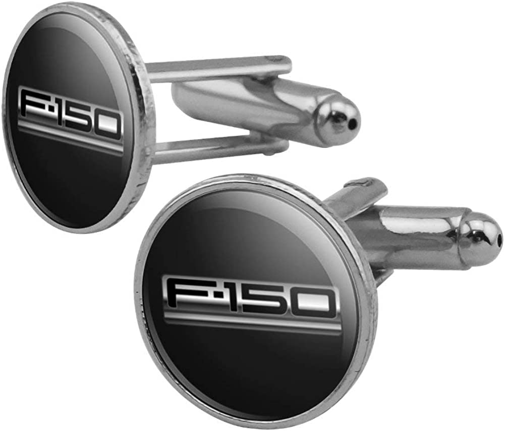 GRAPHICS Ranking TOP18 MORE Ford Trucks F-150 Max 41% OFF Cufflink Round Set Logo Silver