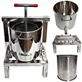 DIY Large Fruit Honey Presser Beeswax Extractor Beekeeping Machine and Cider, Wine, Grape, Apple Press extractor for Wine and Juice Making with 20L Keg and 10L Stainless Steel Strainer