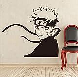 Stickers Manga Naruto Sticker Vinyle Anime Intérieur Intérieur Déco Amovible Décoratif Personnalisé Stickers Muraux, 81 X 90 Cm
