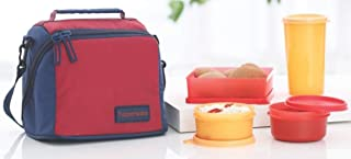 TP-860-T187 Tupperware Best Lunch (Including Bag) With Two Bowls, One Tumbler and One Square Box allows you to Pack a Complete Lunch by Tupperware