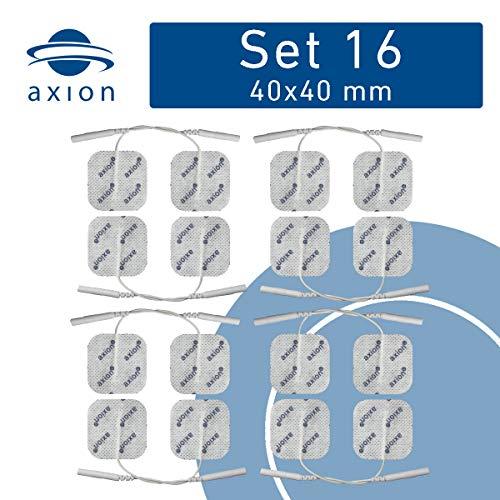 16 Elektroden-Pads 40x40 mm - Universelle TENS-Elektroden & EMS-Pads - axion