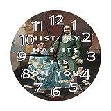 FETEAM Reloj de Pared Angélica Hamilton Relojes de Pared Funciona con Pilas Silencioso Decoración Pared para Cocina, Salon, Oficina, Dormitorio 25cm